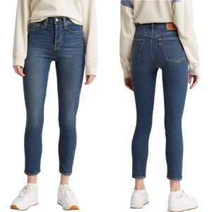 Levi's Wedgie Skinny Blue High Rise Jeans Size 27